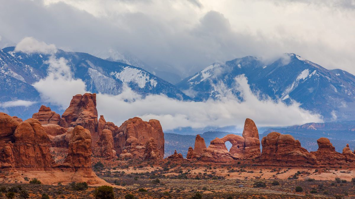 Best photography spots in Arches national park la sal moutains