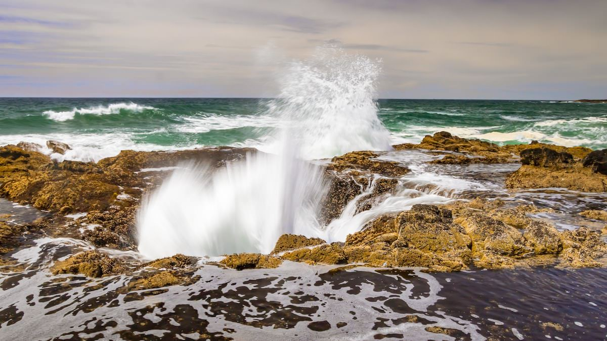 Where is thors well, where is the beach with a hole in the grund, best photography spots on the oregon coast