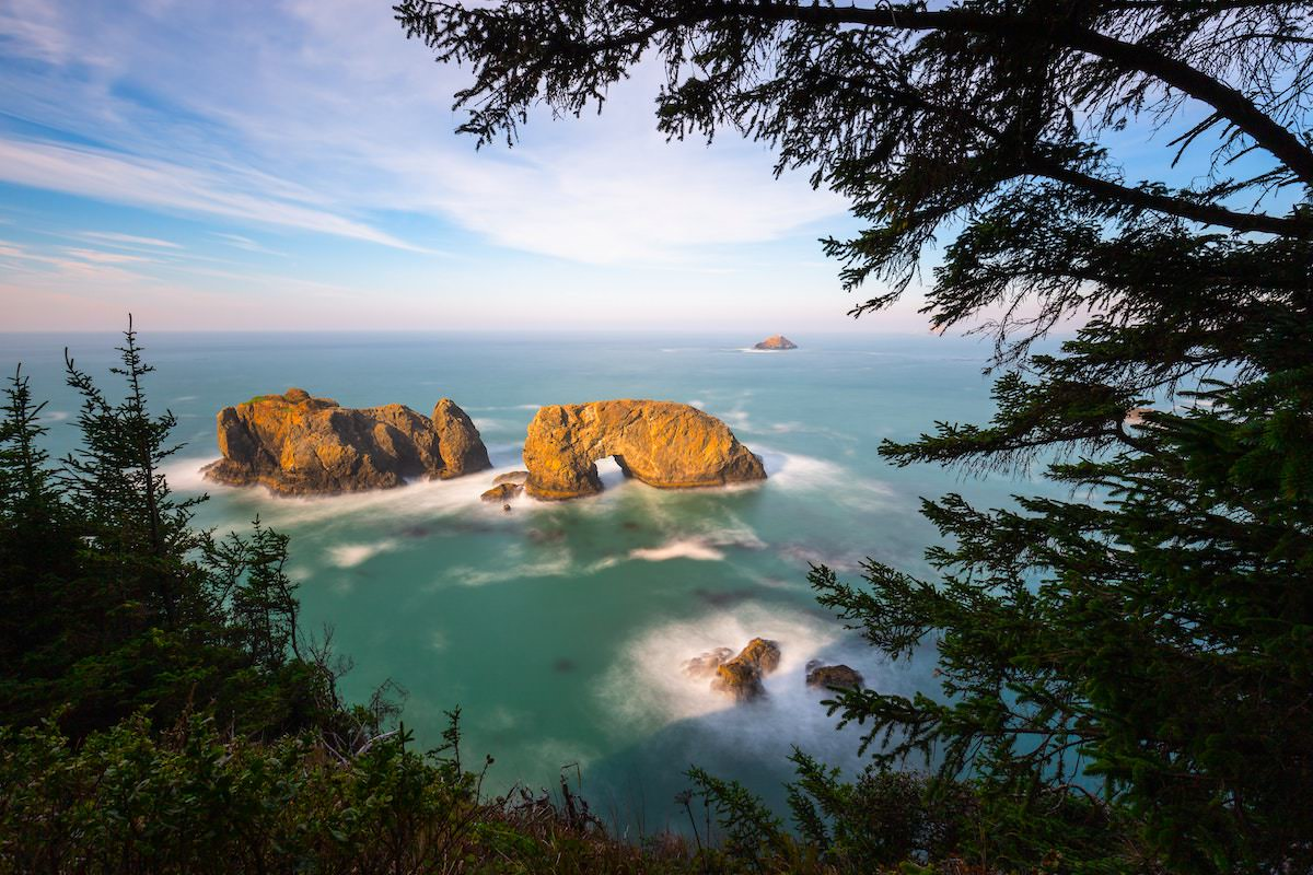 Arch rock oregon exact location, best photography spots in oregon