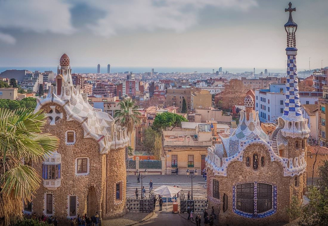 where are the best photography spots in barcelona spain, park guell