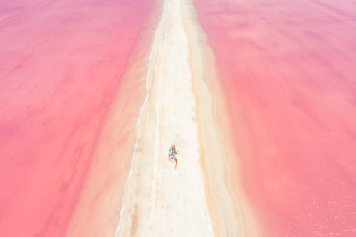 Where are the pink lakes in mexico